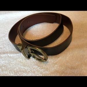 Women's black/brown reversible belt